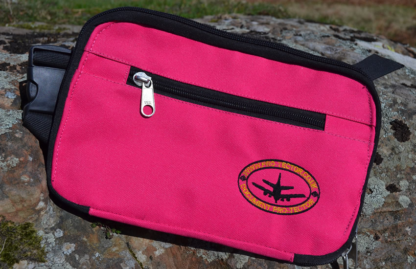 Flamboyant Pink Travel Pouch